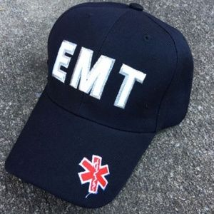 Other - Unisex EMT EMS Baseball Hat Navy Blue Adjustable